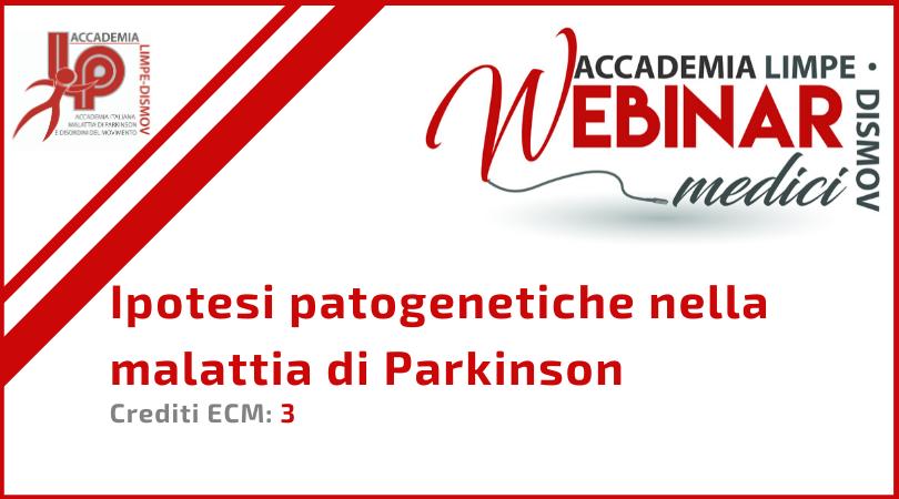 """Course Image FAD Sincrona """"Ipotesi patogenetiche nella malattia di Parkinson"""""""