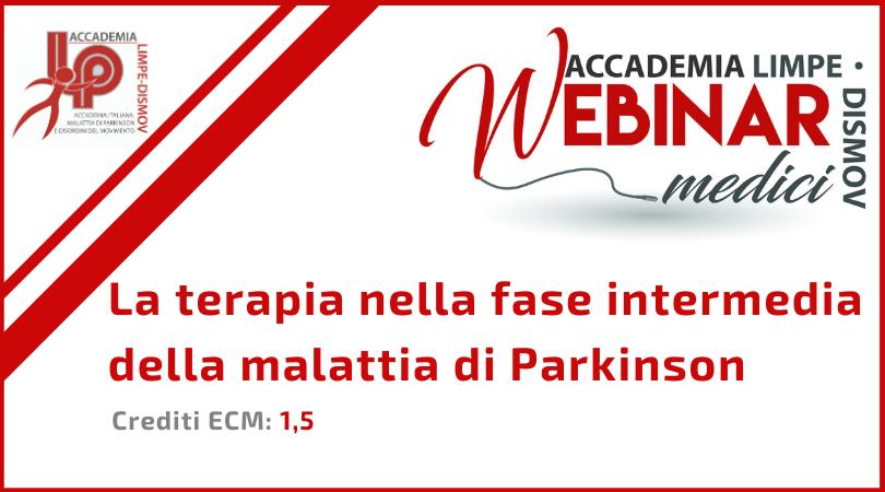 """Course Image FAD Sincrona """"La terapia nella fase intermedia della malattia di Parkinson"""""""