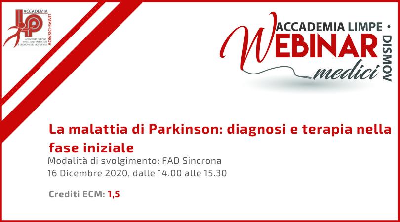 Course Image La malattia di Parkinson: diagnosi e terapia nella fase iniziale
