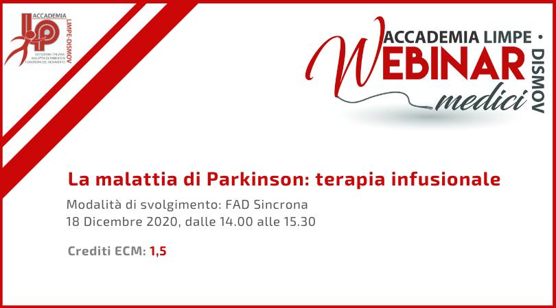 Course Image La malattia di Parkinson: terapia infusionale